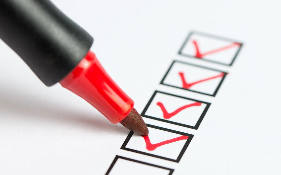 red pen checklist